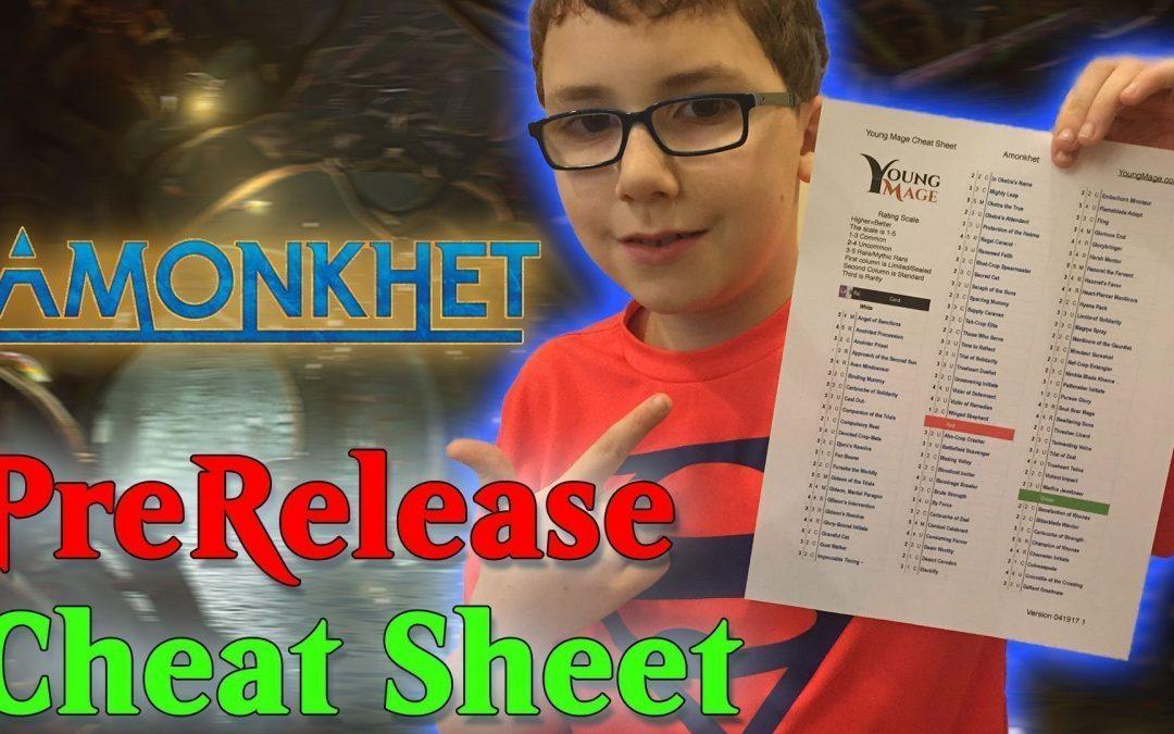 Amonkhet PreRelease Cheat Sheet
