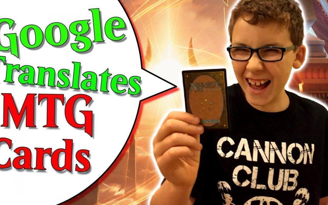 Google Translates MTG Cards