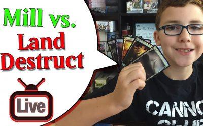 🔴 MTG Gameplay Mill vs Land Destruction