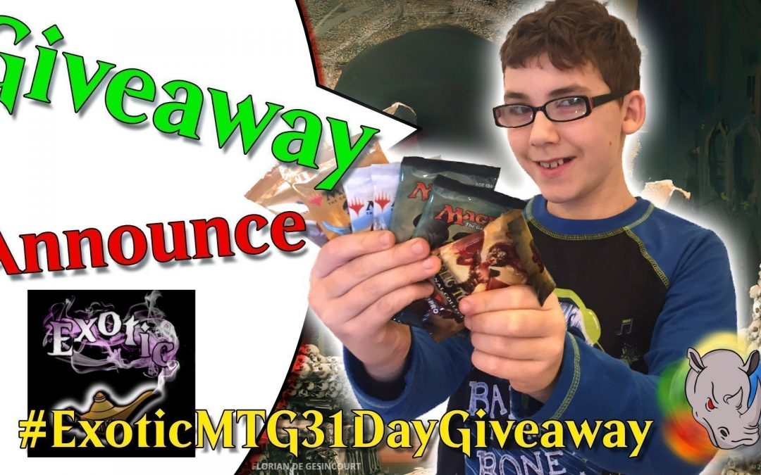 Announcement for Exotic MTG 31 days of Christmas Giveaway
