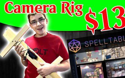 Folding Camera Rig for SpellTable