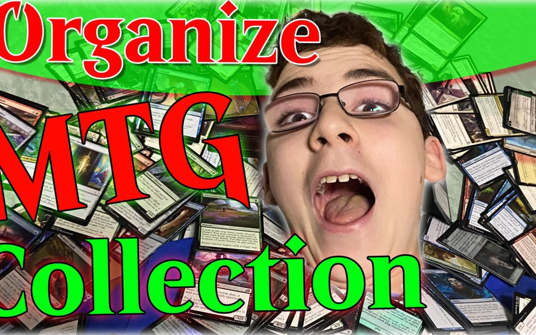 Organizing Magic the Gathering card Collection | Behind the Scenes with Papa Mage